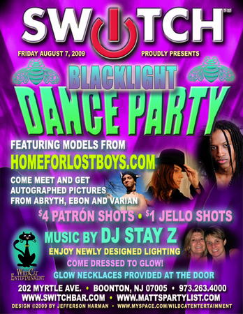 August 7th Blacklight Dance Party w/ Models