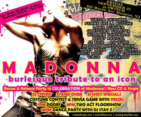 Sept 25th Madonna CD Release Party
