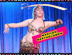 Madison Bartholomew performing at the Sept 25th Madonna CD Release Party